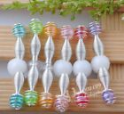 30x Kid's Hair Clips DIY Elastic Hairclip Jewelry Accessories Upick Color JAE001