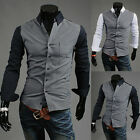 NEW Mens Long Sleeve Luxury Casual Slim Fit Formal Stylish Dress Shirt Tops
