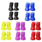 Rubber PVC Pet Dog Puppy Waterproof Protective Rain Walk Adjustable Shoes Boots