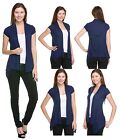 SHORT SLEEVE CARDIGAN New Womens Rayon Short Sleeve Open Cardigan - S M L