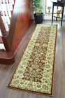 New Rose Brown Soft Thick Oriental Runner Rugs Extra Long Narrow Cheap Hall Mats