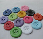 20pcs Big Plastic Overcoat Button Cloth sewing Appliques Lots Upick 38/33mm F732