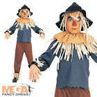 Scarecrow The Wizard Oz Fancy Dress Child Boys Book Character Kids Costume + Hat