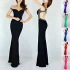 Graceful Backless Bridesmaid Long Maxi Party Evening Prom Mermaid Slim Dresses