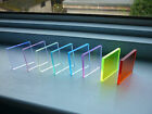Coloured Acrylic Blocks For Unmounted Stamps - 50x50mm - Many Available Shades