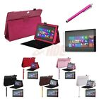 Folding PU Leather Case Cover Stand w/ Keyboard Holder for Microsoft Surface RT2