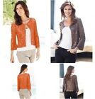 SAVOIR Sequin Crochet Cardigan Chocolate or Coral RRP £45 z522.