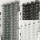 Silver Eyelet Voile Curtain Panel Retro Style Curtains Single panel 54 72 90