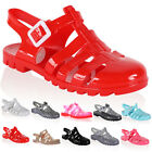 DD14 WOMENS FLAT LADIES FLIP FLOP RETRO SUMMER BEACH JELLY SANDAL SHOES SIZE 3-8