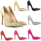 Ladies Bling  Sexy High Heels Pointed Corset Pumps Court Shoes Glitter Size 2-9