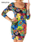 IRON FIST Ladies Mini Dress Top MONSTER In My Pocket Bodycon Goth All Sizes