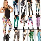 Colorful Pattern Women Sexy Skinny Leggings Stretchy Jeggings Pencil Tight Pants