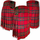 SCOTTISH HIGHLAND ROYAL STEWART TARTAN KILT SIZES FROM 26 INCH TO 48 INCH