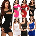 Hot Sexy Women Lace Sleeveless Backless Bodycon Mini Party Evening Dress EA
