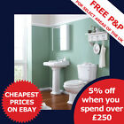 Bathroom WC Toilet, Cistern, Basin Sink and pedestal Pottery Suite Sets