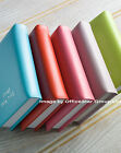 A5 GENUINE REAL LEATHER BOUND 5 YEAR DIARY LEAF SIZE 21 x 14.6CM- BRIGHT COLOURS