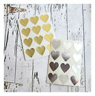 Gold,  Silver Heart Stickers,  Heart Seals,  Wedding Stickers,  Cardmaking