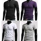 Men's Slim Fit V-Neck Short Sleeve Bottoming Cotton Casual T-Shirt Tee Tops B20E