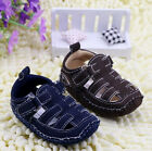 Toddler Baby Boy Soft Sole Crib Shoes  Sandals Size Newborn to 12 Months/B911