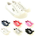 Womens Rocket Dog Jazzin Flat Lace Up Plimsoll Canvas Trainers New UK Sizes 3-8