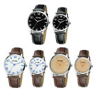 EYKI Fashion Classic Lover's Quartz Watch Leather Watchband Male/Female