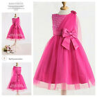 HP8910 Pinks Wedding Party Dresses Bridesmaid Flower Girls Dress AGE SZ 2 to 10Y