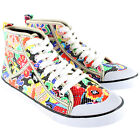 Womens Rocket Dog Jazzin Sugar Flower Amati Hi Lace Up High Top Trainers UK 3-8