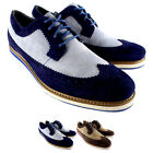 Mens Hush Puppies Scene Longwing Suede Flat Brogue Lace Up Casual Shoes UK 7-12