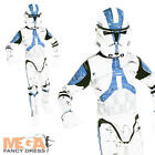 Clone Trooper Boys Star Wars Fancy Dress Movie Kids Child Costume + Mask 3-10 Y