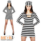 Convict Ladies Cell Block Sweetie Fancy Dress Robbers Prisoner Uniform Costume