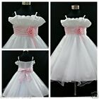 P818 Pinks Wedding Party Bridesmaid Flower Girls Dress SIZE 1-2-3-4-5-6-8-10-12Y
