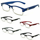 DG Glasses Fashion Readers Half Rim Metal