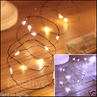 20 LED BATTERY OPERATED MICRO BLACK WIRE STRING FAIRY PARTY XMAS WEDDING LIGHT