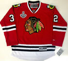 MICHAL ROZSIVAL 2013 CHICAGO BLACKHAWKS STANLEY CUP REEBOK PREMIER JERSEY