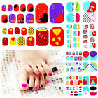 3D Nail Art Decoration Toenails Sticker Foils Wraps Rhinestone Glitter Decals