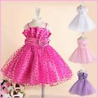 HP1688 Hot Pink Wedding Party Flower Girls Dresses SIZE 1 2 3 4 5 6 7 8 9 10 12Y