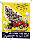 """Vintage Wartime Poster WW2 """"Help Win The War, Squeeze in 1 More"""" re-print A4, A3"""