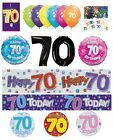 70th Birthday AGE 70 - Large Range of CAKE CANDLES & Party BANNERS(Plastic/Foil)