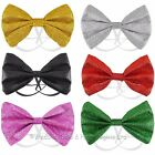 Elasticated Sparkly Bow Tie Dicky Bow Fancy Dress Dancewear Mens Ladies Xmas