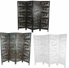 4 Panel Heavy Duty Carved Indian Screen Wooden Elephant Screen Room Divider