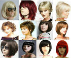 Hot Women Heat Resistant Short Straight Curly Wavy Cosplay Party Hair Full Wig