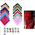 Paisley Bandanas Neck Wristband 100% Cotton Head Wrap Scarf Double Sided Colours