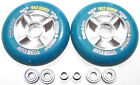 "Scooter schneller machen Tuning 104mm Rolle ""Sticky""  ABEC 9 blau Roller Wheels"