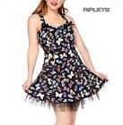 BANNED Mini DRESS Summer Vintage BUTTERFLY Bows Black Party Goth All Sizes