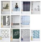 Shower Curtains Polyester | Extra Long 180cm Wide x 200cm Drop | Rings Included
