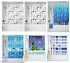 Shower Curtains | Peva | Extra Long Drop 180cm x 200cm | Rings Included