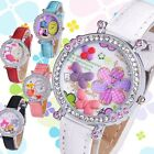 Cute 3D Dial Leather Band Quartz Wrist Multi-styles Girls/Kid's Gift Watches new