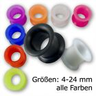 SILICONE FLESH TUNNEL ear plug earring earlobe stretching expander taper gauge