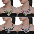 NEW White Rhinestone Pearl Resin Vintage Gold Chain Statement Pendant Necklace