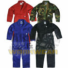 HEAVY DUTY CHILDRENS KIDS VELCRO FRONT COVERALL OVERALLS BOILERSUIT BOYS GIRLS
